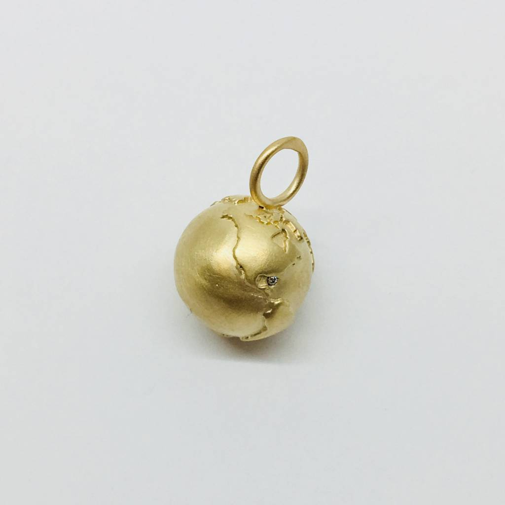 Heather Moore Small Yellow Gold Globe