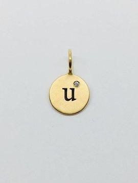 """Heather Moore """"U"""" Initial Charm"""