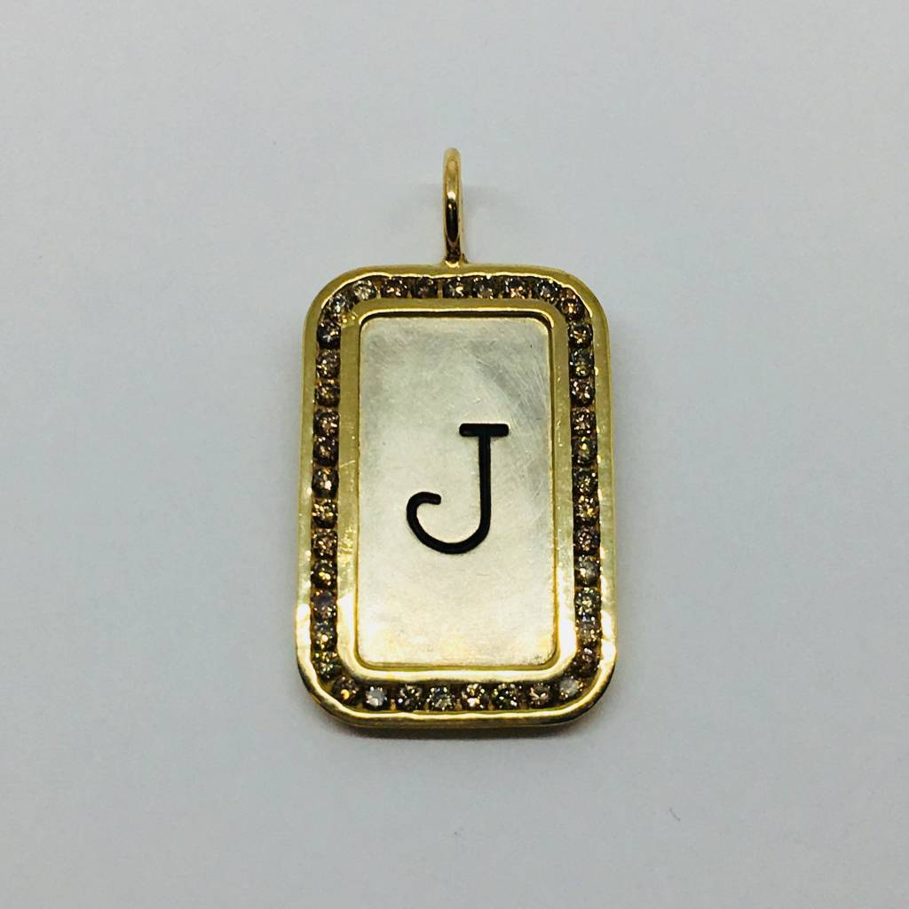 """Heather Moore Framed """"J"""" Initial Charm"""