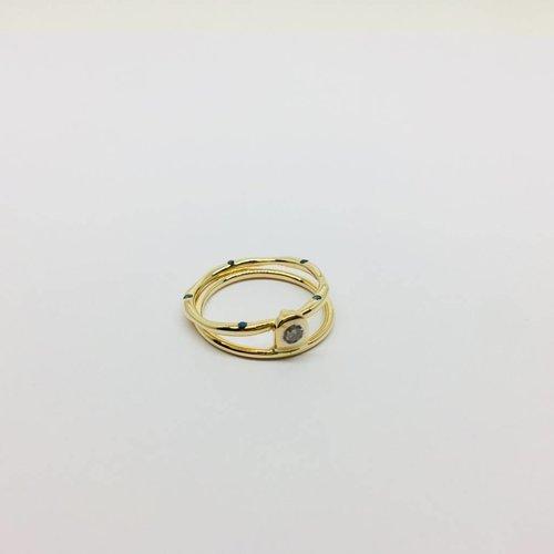 Lotasi Double Circle Sapphire Ring