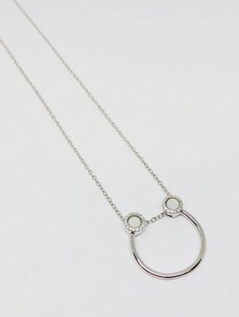 Nyla Star Silver Half Hoop Necklace