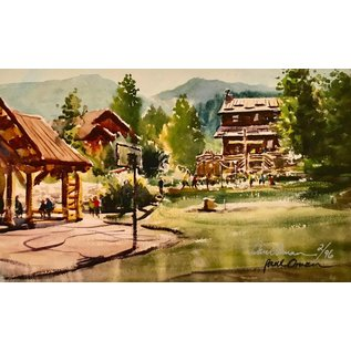 Paul Oman Painting Rainbow Trail Afternoon Print