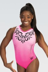 GK Elite E4163- Simone Biles Pink Perfection T-Back Leotard
