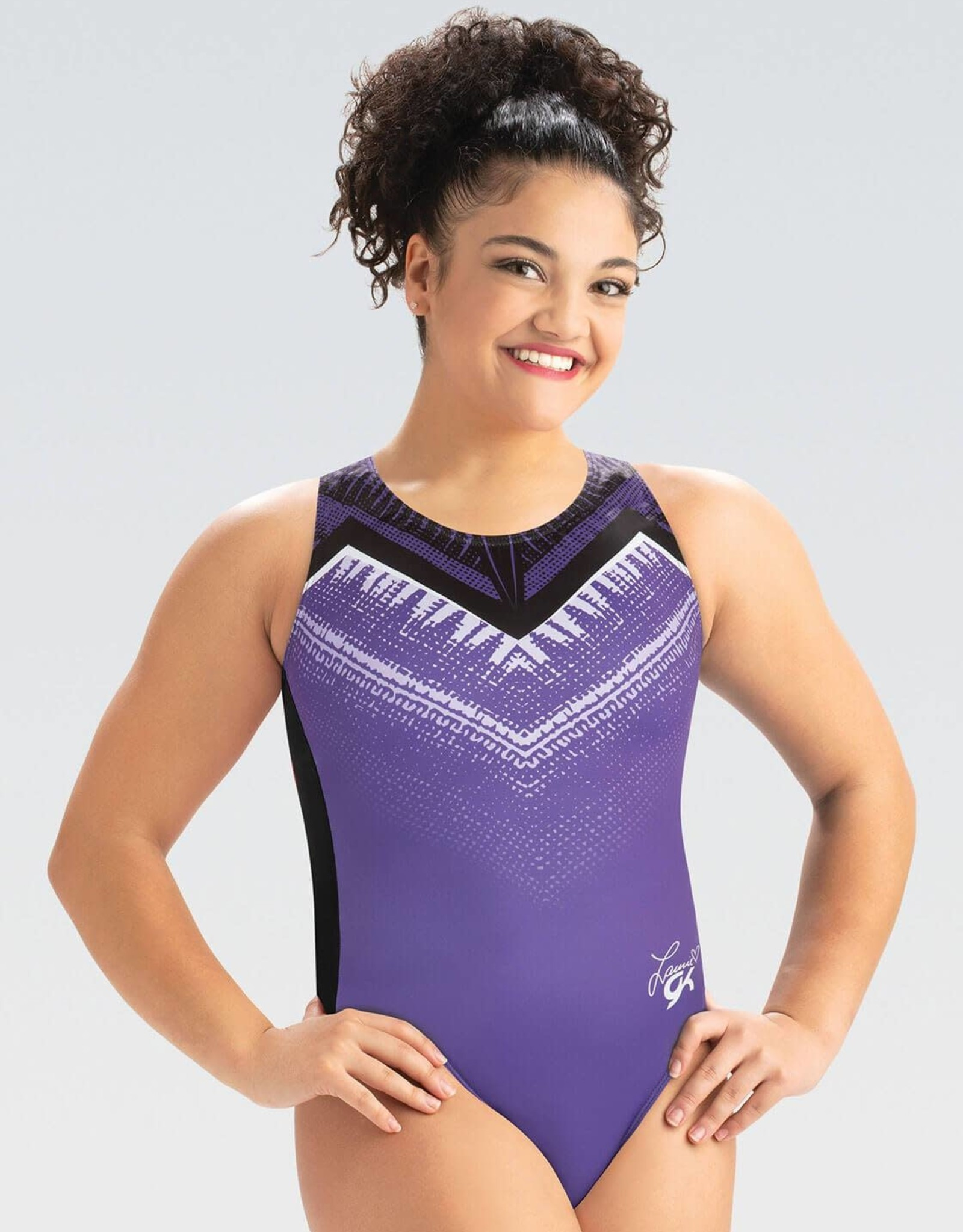 GK Elite E4218-Laurie Hernandez Collection Purple Power Tank Leotard