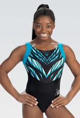 GK Elite E4223- Simone Biles Collection Black And Blue Tank Leotard