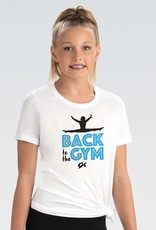 GK Elite L1307-Back To The Gym White Fitted T-Shirt