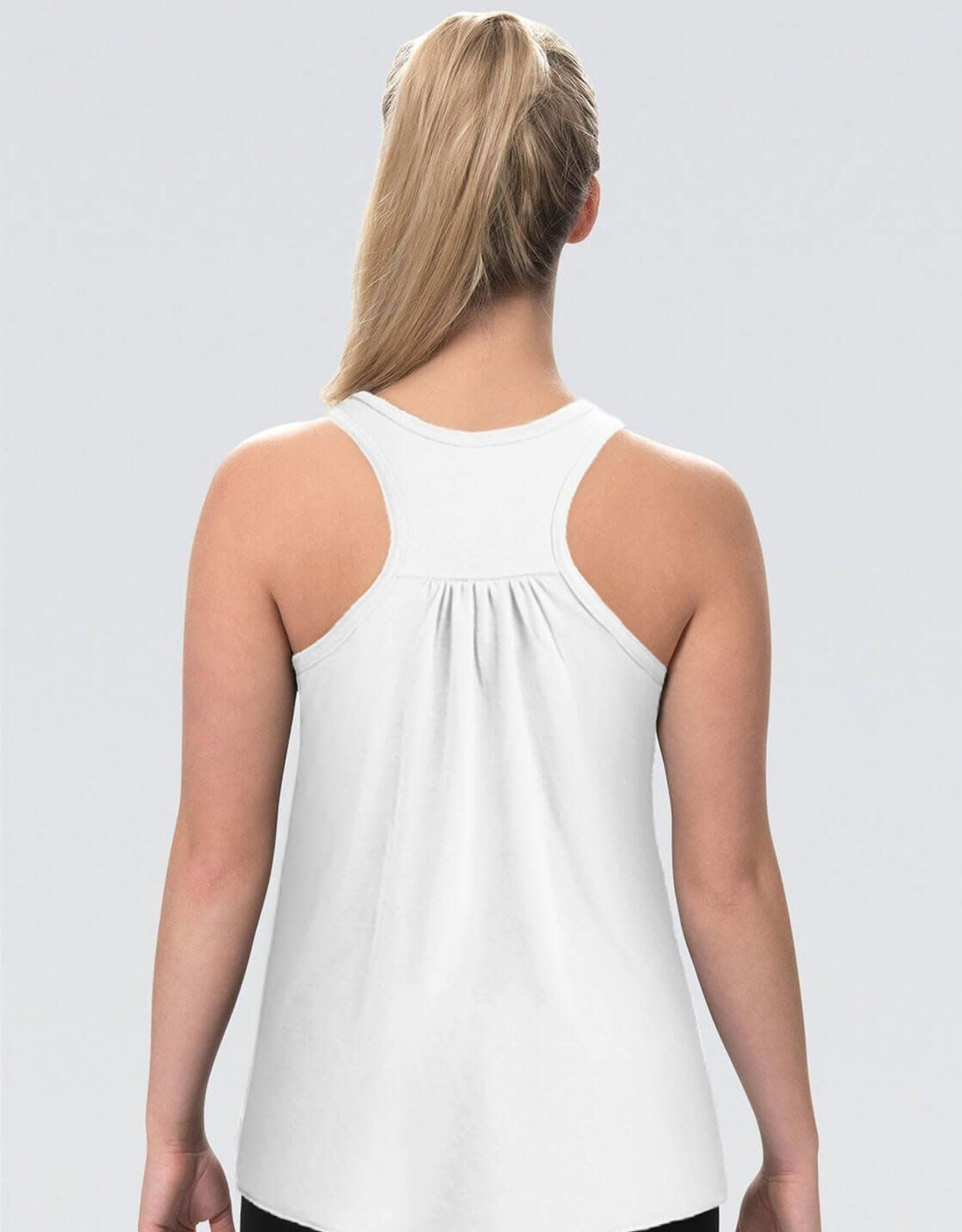 GK Elite L1308-Gymnast 2020 White Tank Top