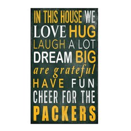 Fan Creations Green Bay Packers In This House Sign