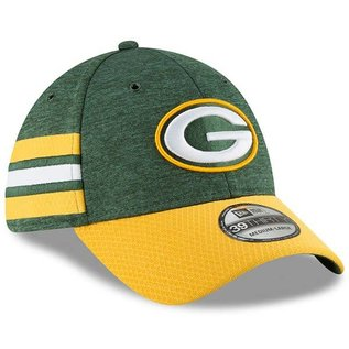 New Era Green Bay Packers 39/30 Green 18 Sideline Hat