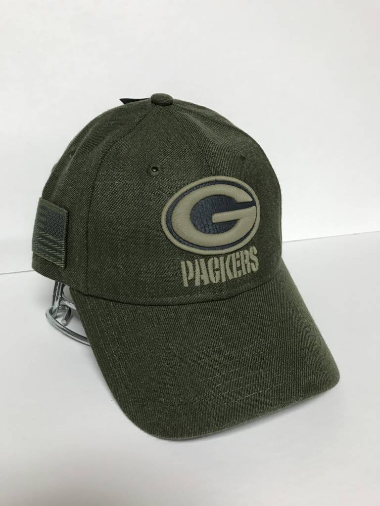 Green Bay Packers 2018 Salute to Service 9-20 Adjustable Hat ... a137395d5