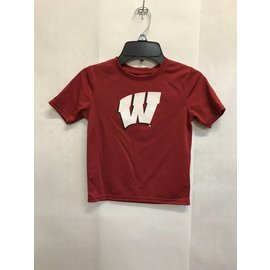 Wisconsin Badgers Youth Ex Machina Dri Tek Short Sleeve Tee