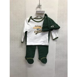 Green Bay Packers Infant Future Legend Onesie, Pant and Hat Set