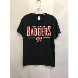 Wisconsin Badgers Men's Black Short Sleeve Tee