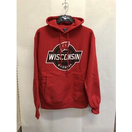 Wisconsin Badgers Men's Pullover Hoodie with Black Circle Logo