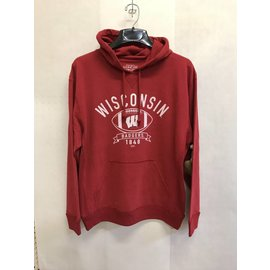 Wisconsin Badgers Men's Red Hoodie With Football