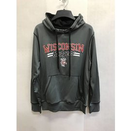 Wisconsin Badgers Men's Sport Gray Hoodie