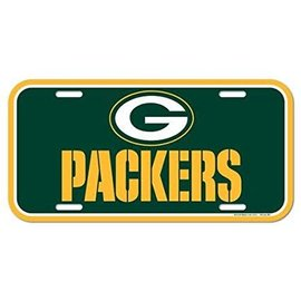 Green Bay Packers Plastic License Plate- G and Packers