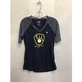 Milwaukee Brewers Women's Ball and Glove Short Sleeve Tee