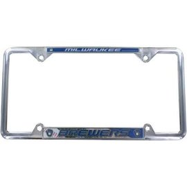 Milwaukee Brewers EZ View Chrome License Plate Frame