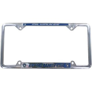Rico Industries, Inc. Milwaukee Brewers EZ View Chrome License Plate Frame