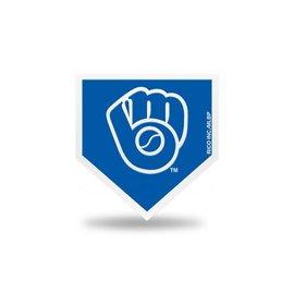 Rico Industries, Inc. Milwaukee Brewers Home Plate Team Spirit Magnet