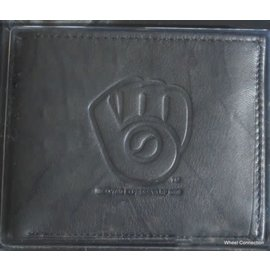 Milwaukee Brewers Black Leather Wallet
