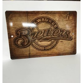 Milwaukee Brewers Fantique Plastic Wall Sign