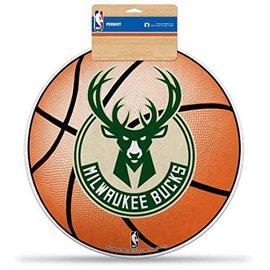Rico Industries, Inc. Milwaukee Bucks Diecut Basketball Pennant