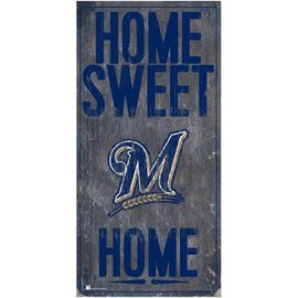 Milwaukee Brewers Wood Sign-Home Sweet Home