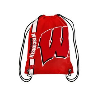 Wisconsin Badger Big Logo Drawstring Backpack
