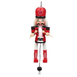 Forever Collectibles Wisconsin Badgers Pullstring Nutcracker Ornament