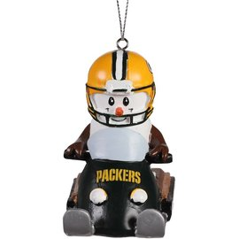 Forever Collectibles Green Bay Packers Smores Snowmobile Ornament
