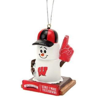 Wisconsin Badgers Smore Touchdowns Ornament