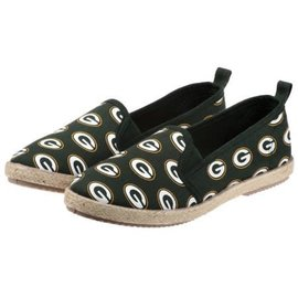 Forever Collectibles Green Bay Packers Women's Espadrille Canvas Shoes