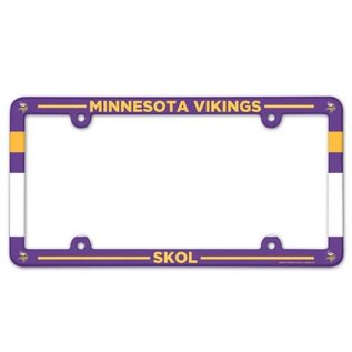 WinCraft, Inc. Minnesota Vikings Full Color Plastic License Plate Frame with Slogan