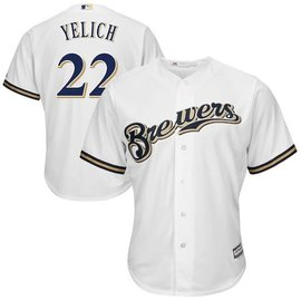 Milwaukee Brewers Men's White Yelich Jersey