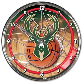 WinCraft, Inc. Milwaukee Bucks Chrome Clock