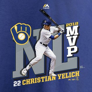 Milwaukee Brewers Men's Yelich MVP Short Sleeve Tee