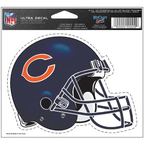 Chicago Bears Multi use colored decal 5x6 Packerland Plus