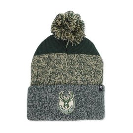 '47 Brand Milwaukee Bucks Dark Green Static Cuff Knit Hat