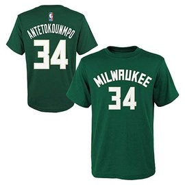 Milwaukee Bucks Youth Antetokounmpo Name and Number Short Sleeve Tee ac2459ccf71b