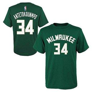 Milwaukee Bucks Youth Antetokounmpo Name and Number Short Sleeve Tee