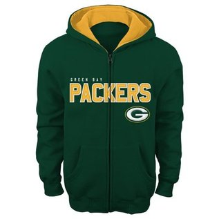 Outerstuff Green Bay Packers youth stated full zip hoodie
