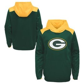 Green Bay Packers Youth Off The Grid Poly Pullover Hoodie