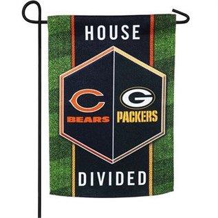 Evergreen Enterprises Green Bay Packers/Chicago Bears House Divided Garden Flag
