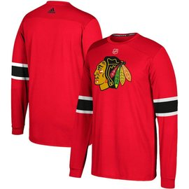 Adidas Chicago Blackhawks Long Sleeve Jersey Replica Dri Fit Tee