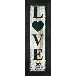 Green Bay Packers Framed Love Vertical Plaque