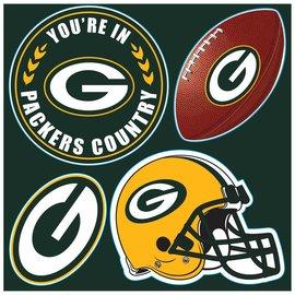 Fremont Die Green Bay Packers 4 Pack Magnet Set