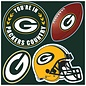 Fremont Die Green Bay Packers 4 Pack Magnet Set