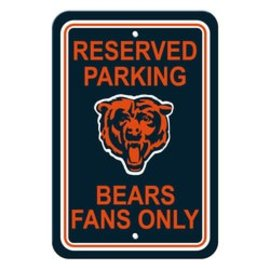Chicago Bears Reserved Parking Sign